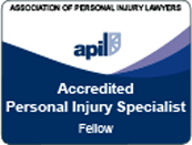 Logo Recognizing Conway Accident Law Practice Limited's affiliation with Association of Personal Injury Lawery, Accredited Personal Injury Specialist Fellow